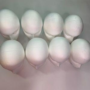 Styrofoam Wig Heads Set of 8
